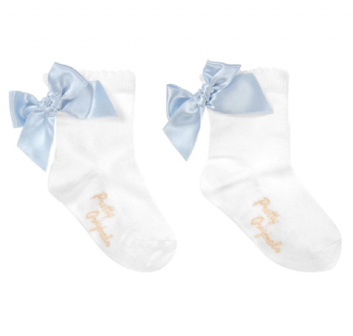 Pretty Originals Blue Bow Socks